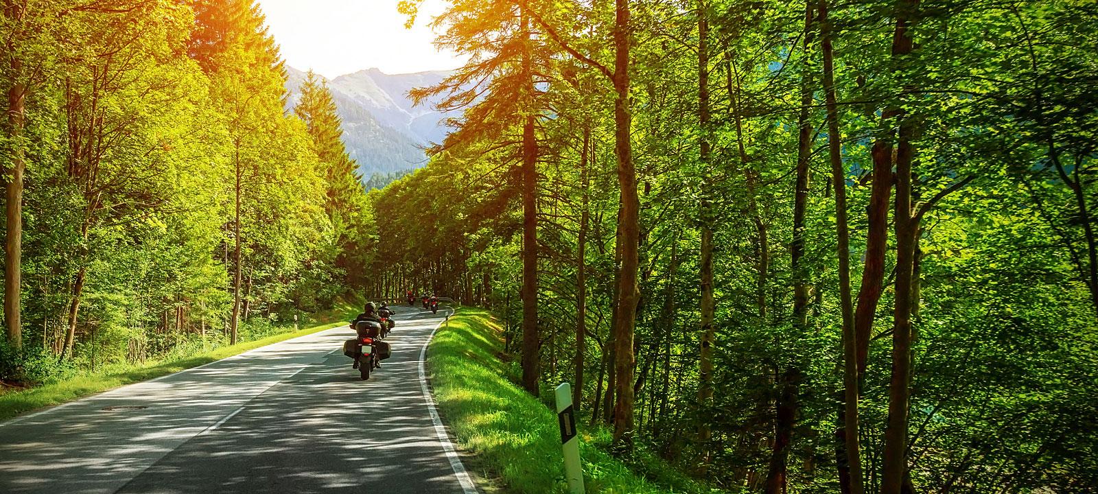 Motorradfahren im Bayerischen Wald