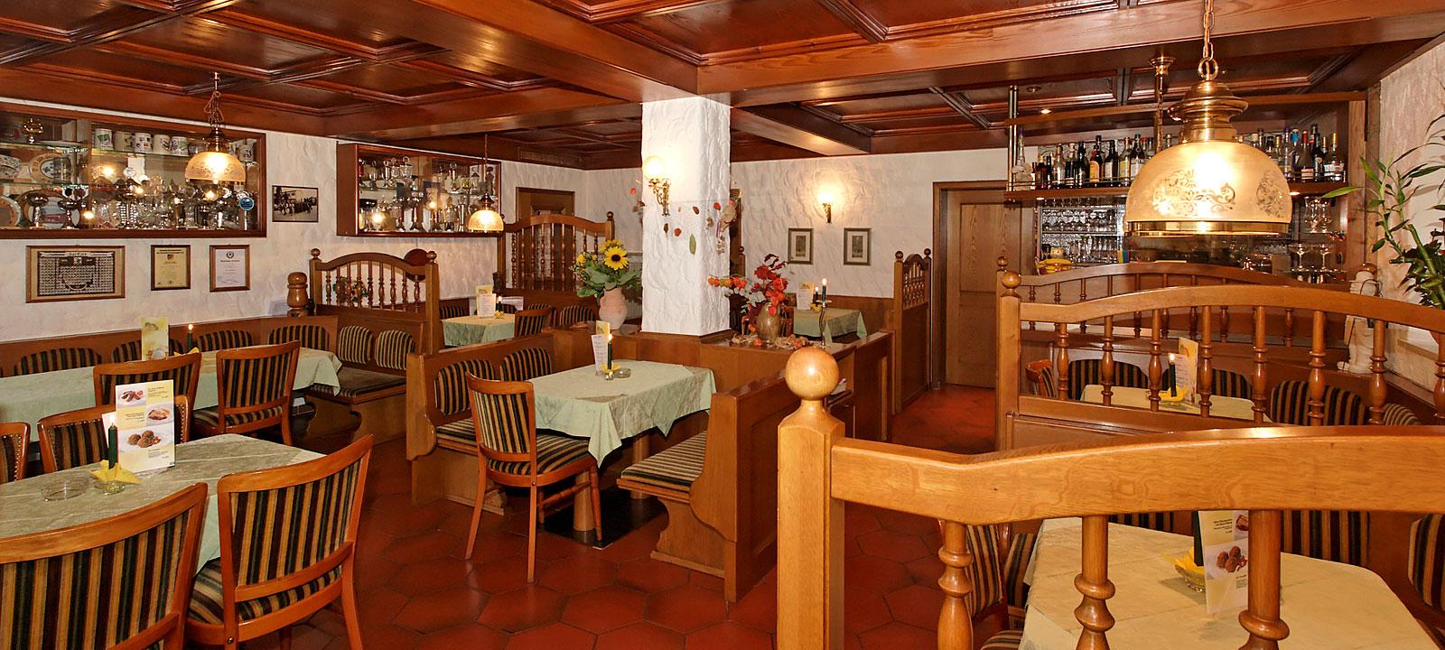 große Gaststube in der Pension Bergstubn Saldenburg